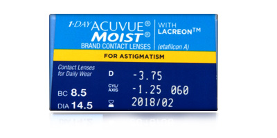 Acuvue Johnson & Johnson  1 Day Acuvue Moist for Astigmatism