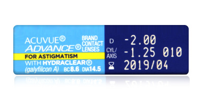 Acuvue Johnson & Johnson  Acuvue Advance for Astigmatism