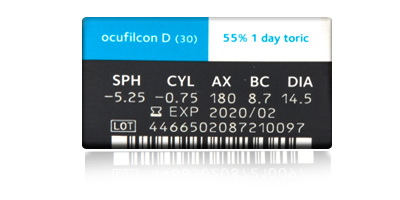 Coopervision Biomedics 1 Day Extra Toric