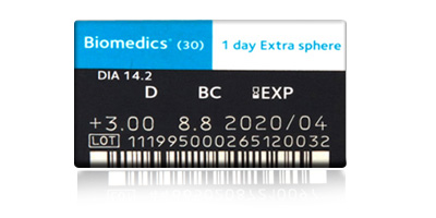 Coopervision Coopervision Biomedics 1 Day Extra 30 Pack Disposable