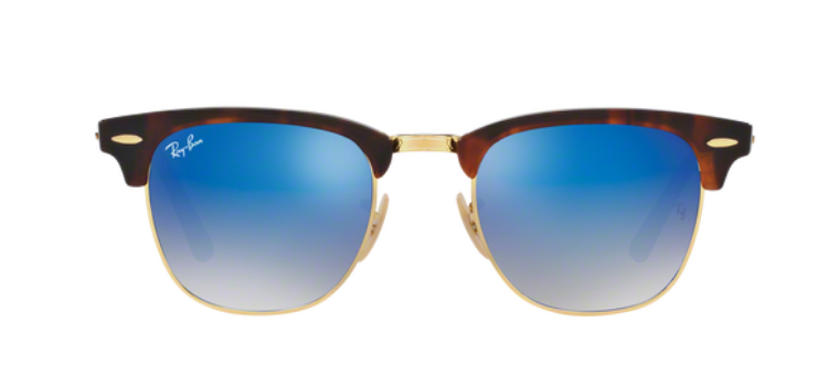 Ray Ban Clubmaster RB3016 Shiny Red /Havana Sunglasses