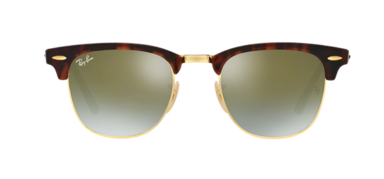 Ray Ban Clubmaster RB3016 Shiny Red/ Havana Sunglasses