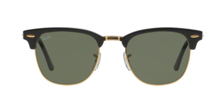 Ray Ban Clubmaster RB3016 Ebony/Arista Black Sunglasses