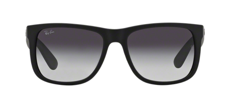 Ray Ban Justin RB4165 Black Rubber Sunglasses