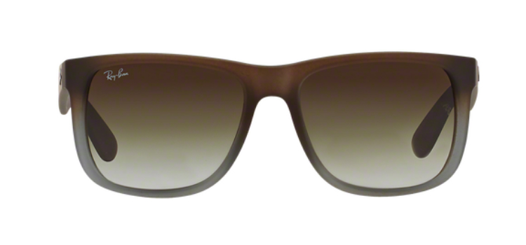 Ray Ban Justin RB4165 Brown on grey Sunglasses
