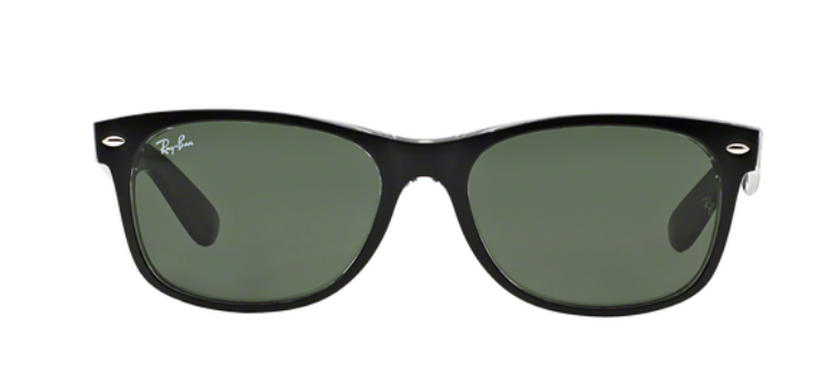 Ray Ban New Wayfarer RB2132 Top Black Transparent Sunglasses