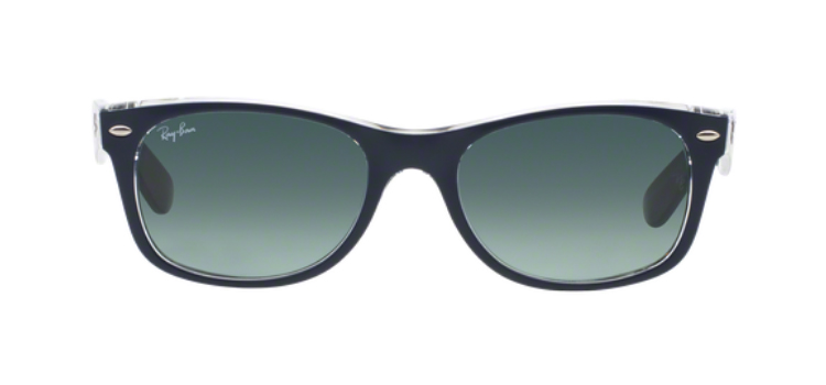 Ray Ban New Wayfarer RB2132 Top Matt Blue Transparent Sunglasses