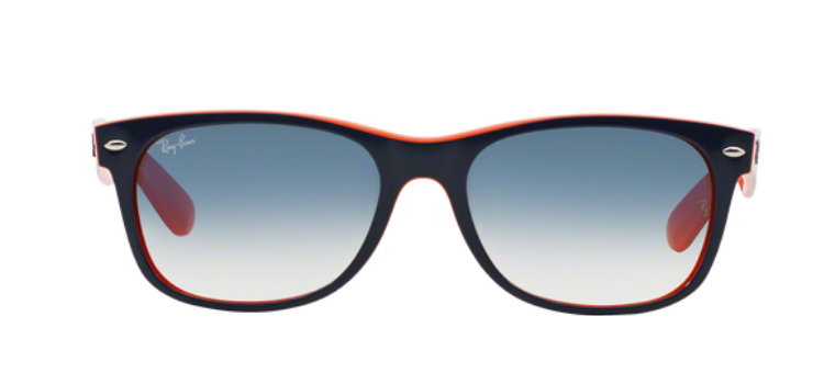 Ray Ban New Wayfarer RB2132 Top Blue Orange Sunglasses