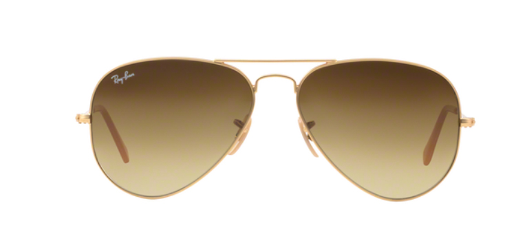 Ray Ban Aviator Large Metal RB3025 Matt Gold Sunglasses