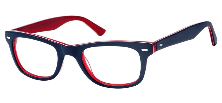 A101J Blue & clear red A101 Glasses