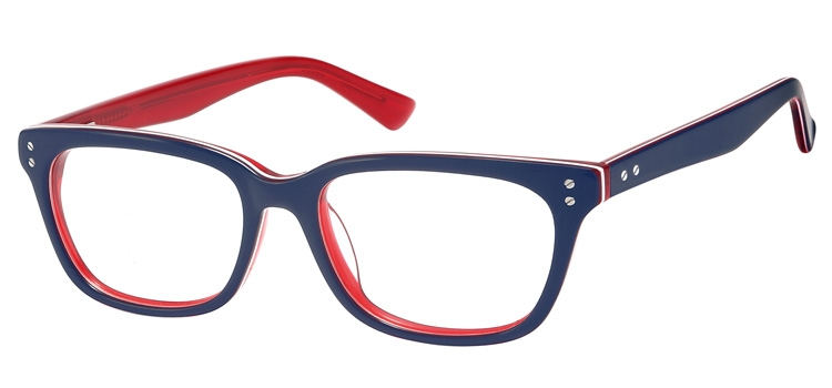 A106A Blue & clear red A106 Glasses