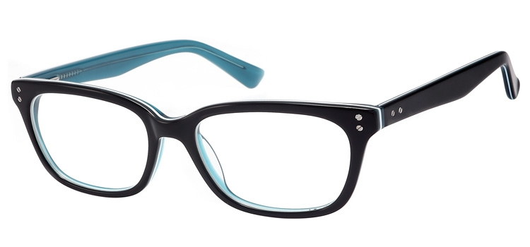 A106B Black & Clear Turquoise A106 Glasses