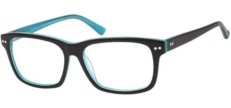 A116E Black & Clear Turquoise A116 Glasses