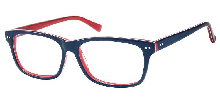 A116H Blue & clear red A116 Glasses