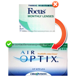 Focus Toric Contact Lenses