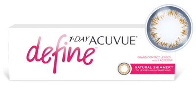 1-Day Acuvue Define   with LACERON & UV Blocking Contact Lenses
