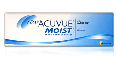 Best Daily Disposable 1 Day Acuvue Moist 30  with LACERON Contacts