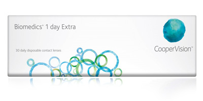Coopervision Biomedics 1 Day Extra 30 Pack Disposable Contact Lenses