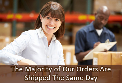 The Majority of Our Orders Are Shipped The Same Day